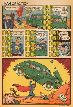 Artist Kerry Callen illustrates the true story behind the cover of Action Comics #1. Behold: [Source: Kerry Callen]