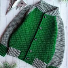 Irresistible Crochet a Doll Ideas. Radiant Crochet a Doll Ideas. Baby Boy Knitting, Baby Cardigan Knitting Pattern, Crochet Jacket, Knitting For Kids, Baby Knitting Patterns, Knit Crochet, Next Clothing Kids, Kids Outfits, Cute Outfits