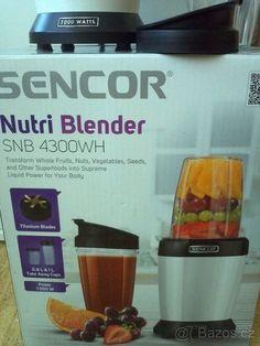 SENCOR Nutri Blender SNB 4300WH - 1000W - Litoměřice - Bazoš.cz   3-2020--- 400 kc Nutri Blender, Take Away Cup, Superfoods, Mixer, Smoothie, Seeds, Vegetables, Fruit, Super Foods