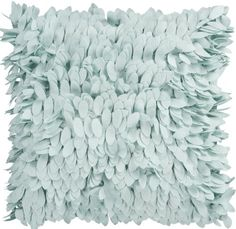 "18"" Palladium Blue Feather-Like Confetti Petals Dimensional Decorative Throw Pillow | Amazon, Walmart"