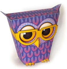 Printable Purple Owl