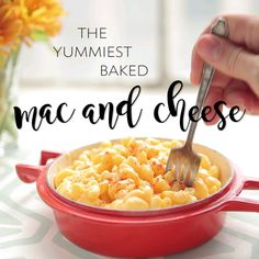 The Yummiest Baked Mac & Cheese mac and cheese recipe Baked Mac And Cheese Recipe, Bake Mac And Cheese, Baked Cheese, Cheese Food, Mac Recipe, Mac Cheese Recipes, Easy Dinner Recipes, Pasta Recipes, Easy Meals