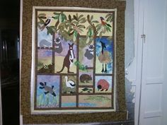 Australian Animals pattern from Australian Patchwork and Quilting Quilt Baby, Easy Quilt Patterns, Quilting Ideas, Neutral Baby Quilt, Applique Quilts, Children's Quilts, Alphabet Quilt, Owl Pet, Animal Quilts