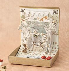 Bring the forest into your home this autumn with a dimensional notelet. It's amazing what a few die-cuts can do!