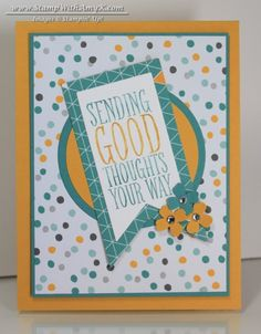 Perfect Pennants Good Thoughts Card – Stampin' Up!