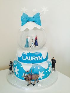 Frozen snow globe cake!