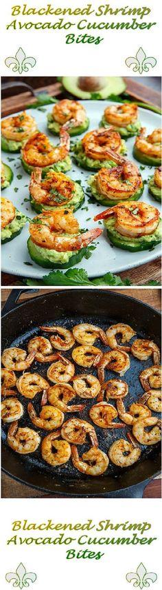 Blackened Shrimp Avocado Cucumber Bites – Tasty Food Collection