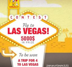 WIN a FREE Trip to Las Vegas from St-Hubert St Hubert, Las Vegas Trip, Win A Trip, Free Travel