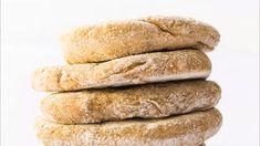 Homemade Yeast-free Spelt Flour Pita Bread (oil free, too) - Bakery Vegan Pita Bread Recipe, Bread Recipe Video, Gluten Free Pita Bread, Homemade Pita Bread, Bread Without Yeast, No Yeast Bread, Spelt Recipes, Whole Food Recipes, Pita Recipes