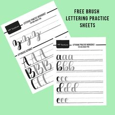 Hey Friends! As I was looking for a  brush beginner pen set, I came across these awesome free brush lettering practice sheets and of course, I just had to share with you all! The sheets have the complete alphabet in lower and upper case.. plus numbers! Perefect for you to print out as many as you...Read More »