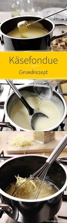 Hier zeigen wir euch das klassische Grundrezept für Käsefondue. Das Fondue wird super cremig und sehr aromatisch.