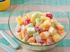 This healthy fruit salad gets its flavor from the natural sweetness of fruits and yogurt.