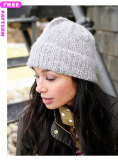 5065daffa8e4 Kennebec is a free hat knitting pattern made by holding two strands of  Berroco Andean Mist