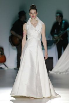 Isabel Zapardiez 2014. Photo: Barcelona Bridal Week...Beautiful & classy. Adjust the skirt length to fit your wedding theme.