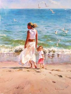 OCEAN FOR TWO  Giclee 40 x 30 inches Edition Size: 95 by Michael and Inessa Garmash