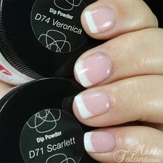 Revel Nail Acrylic Dip Powder French in Scarlett and Veronica – Care – Skin care , beauty ideas and skin care tips Sns Nails, Nail Manicure, Acrylic Nails, Revel Nail Dip Powder, Powder Nails, French Nails, French Manicures, Nail Dipping Powder Colors, Nagel Hacks