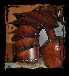barbarian leather armor details by ~Lagueuse on deviantART