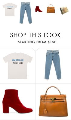 """""""Parisian"""" by stradlatersgirl ❤ liked on Polyvore featuring Acne Studios, Yves Saint Laurent and Hermès"""