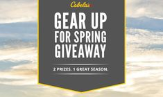 As you prepare for a spring filled with outdoor activity, let Cabela's outfit your entire season. Enter to win a $2,500 Cabela's Canada gift card or a Bradley Smoker. Ends May 3 2017