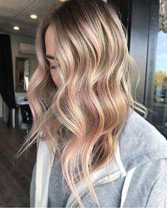 Soft Pink Balayage ❤️ #pastelbalayage By @diamondelizabeth