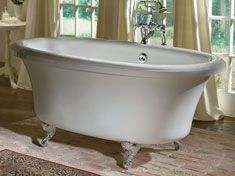 Out of the Tubz clawfoot bathtub selection you can choose from the following features: Thick, durable acrylic surface Deep bathing well Single, double, or slipper Rolltop, classic roll rim, or flat rim Slip‑resistant floor 2 pulsating neck jet pillows Fast‑fill waterfall spout
