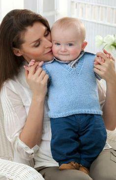 Red Heart Yarn: Momma's Little Guy Vest by Scarlet Taylor - free pattern