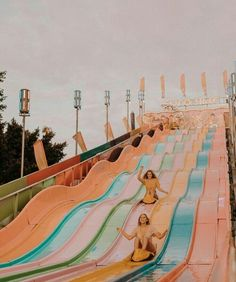 friends, girls, and slide image - Summer Vibes