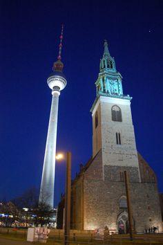 Fernsehturm Tower & St Mary's Chuch ~ Berlin, Germany