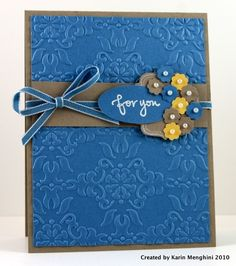 Great color and I like the small flowers.  I'm thinking it must be Marina Mist, Daffodil Delight and Crumb Cake. Nice! by kathrine
