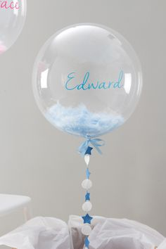 Baby Shower and Christening Balloons - babyshower Christening Balloons, Christening Party, Baptism Party, Baby Boy Christening Decorations, Baptism Ideas, Baby Shower Balloons, Baby Shower Favors, Baby Boy Shower, Baby Showers