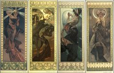Art Nouveau and the Movement's Reluctant Father    [Image The Moon and the Stars (morning star, evening star, polar star, the moon) by Alphonse Mucha 1902 - Currently on exhibit at National Czech & Slovak Museum & Library in Cedar Rapids, IA 52404, USA | 7/14/12 to 12/31/12 - http://www.ncsml.org/]    http://sphotos-a.xx.fbcdn.net/hphotos-snc6/270117_470789616293705_113587030_n.jpg