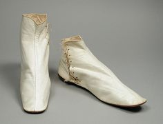 Pair of Woman's Ankle Boots. United States, circa 1850. Wm. Ryan & Co., Philadelphia, Pennsylvania | LACMA Collections