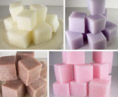 DIY Make Sugar Scrub Cubes
