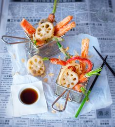 tempura vegetables with lotus root and sweet soy dipping sauce recipe