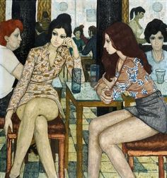 "Czene Béla (Hungarian, 1911-1999) - ""Café-Confiserie"", 1974"