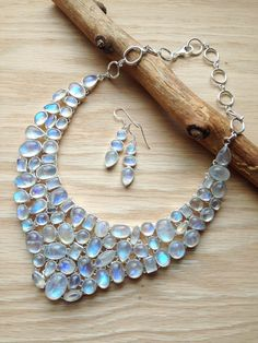 ∆∆∇∇ elementality | another crazy, hardcore, stunner of a rainbow moonstone necklace!!