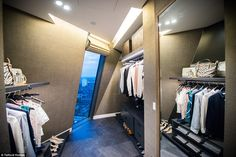 All thrown in... The wardrobe - which includes an £815 Stella McCartney evening dress, a £...