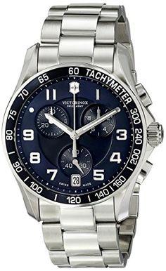 f4b00c3a999 Victorinox Men s 241497 Chrono Classic Analog-Display Swiss Quartz  Silver-Tone Watch Victorinox http