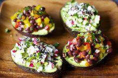 Happy Cinco de Mayo! Try these avocado cup confetti salads.