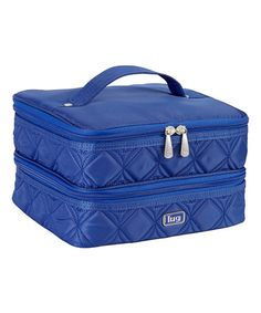 This Cobalt Blue Stacking Toiletry Case is perfect! #zulilyfinds