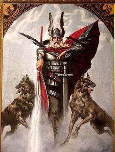 О́дин, или Во́тан (прагерм. Wōđanaz или Wōđinaz; др.-сканд. Óðinn) — верховный бог в германо-скандинавской мифологии, отец и предводитель асов, сын Бёра и Бестлы, внук Бури. Мудрец и шаман, знаток рун и сказов (саг), царь-жрец, князь (конунг)-волхв (vielus), но, в то же время, бог войны и Победы, покровитель военной аристократии, хозяин Вальхаллы и повелитель валькирий. Супруга — Фригг. В соответствии с мифами викингов, в день рагнарёка Один будет убит чудовищным волком Фенриром.
