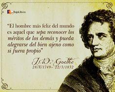 El fascinante novelista alemán Johann Wolfgang von Goethe.