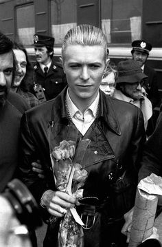 David Bowie - The Thin White Duke with body guard Tony Mascia to Bowie's right...1976
