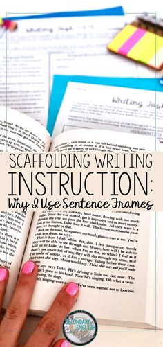 it comes to scaffolding writing, using sentence frames helps all students. Ideal for the middle school and high school English classroom, using sentence frames helps build student confidence. High School Writing, Middle School Ela, Middle School Classroom, Middle School English, English Classroom, Ela High School, 7th Grade English, English Teachers, Teaching English