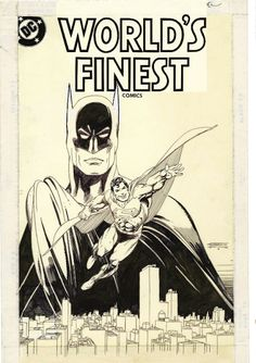 Batman & Superman - Worlds Finest - Gil Kane Action Comics 1, Bd Comics, Batman Comics, Comic Book Artists, Comic Artist, Comic Books Art, Superhero Coloring, Classic Comics, Pause