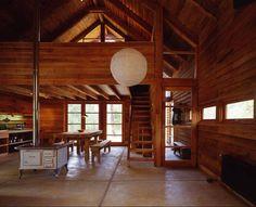 Casa Granero / Cazú Zegers G. Casa Granero / Cazú Zegers G. Cabana, Red Kitchen Decor, Barn Renovation, Wooden Barn, Log Homes, Interior Design Living Room, My Dream Home, Interior Architecture, Logs