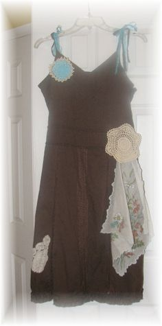 Funky little Summer Dress with Vintage Linens/ by UpCDooZ on Etsy, $28.00