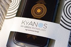 Mobile Cases inspired from ancient Greece from the new collection KYANOS by Lacrimosa Design.  ***BUY IT WITH KYANOS GIFT BOX***  www.lacrimosadesign.com