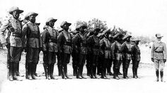 A Cameroon unit on parade in German South-West Africa