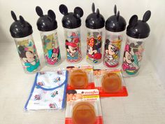 Vintage Evenflo Disney Mickey Minnie Mouse Drop In Bottles